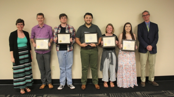 2019 Phi Alpha Theta Inductees with Faculty Advisor and Department Chair